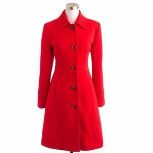 J. Crew Lady Day Red Coat